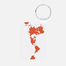 New Perspectives World Map - Red Keychains