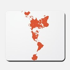 New Perspectives World Map - Red Mousepad
