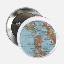 "Soviet Map of San Francisco 2.25"" Button (10 pack)"