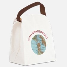 Soviet Map of San Francisco Canvas Lunch Bag
