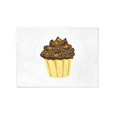 Chocolate Muffin Dessert Cake 5'x7'Area Rug