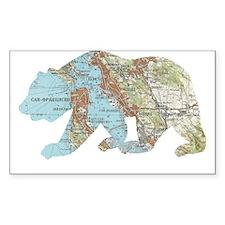 San Francisco Soviet Bear Map Decal