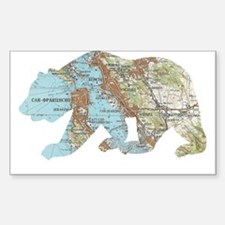 San Francisco Soviet Bear Map Decal