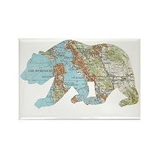 San Francisco Soviet Bear Map Magnets