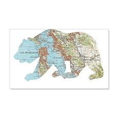 San Francisco Soviet Bear Map Wall Decal