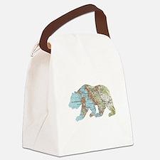 San Francisco Soviet Bear Map Canvas Lunch Bag