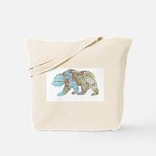 San Francisco Soviet Bear Map Tote Bag