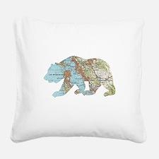 San Francisco Soviet Bear Map Square Canvas Pillow