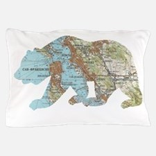 San Francisco Soviet Bear Map Pillow Case