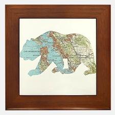 San Francisco Soviet Bear Map Framed Tile