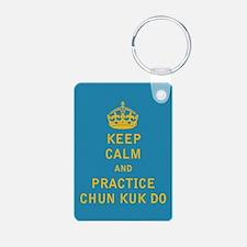 Keep Calm and Practice Chun Kuk Do Keychains