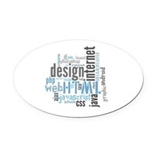 allaboutweb Oval Car Magnet