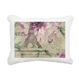 Purple paris Rectangle Canvas Pillows