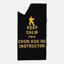 Keep Calm I'm a Chun Kuk Do Instructor Beach Towel