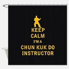 Keep Calm I'm a Chun Kuk Do Instructor Shower Curt