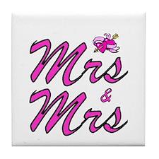 Mrs & Mrs Tile Coaster