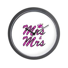 Mrs & Mrs Wall Clock