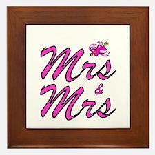 Mrs & Mrs Framed Tile