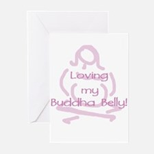 Buddha Belly Maternity Greeting Cards (Package of