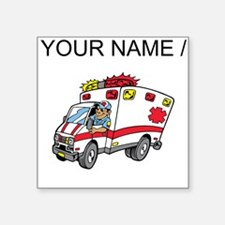 Custom Cartoon Ambulance Sticker