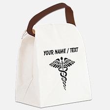 Custom Medical Caduceus Canvas Lunch Bag