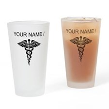 Custom Medical Caduceus Drinking Glass