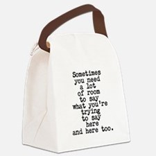 Ten Line Custom Message Canvas Lunch Bag