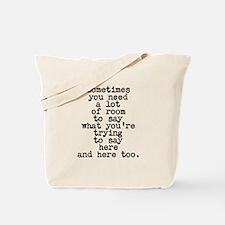 Ten Line Custom Message Tote Bag