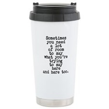 Ten Line Custom Message Travel Mug