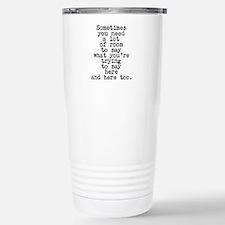 Ten Line Custom Message Travel Mug