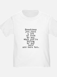 Ten Line Custom Message T-Shirt