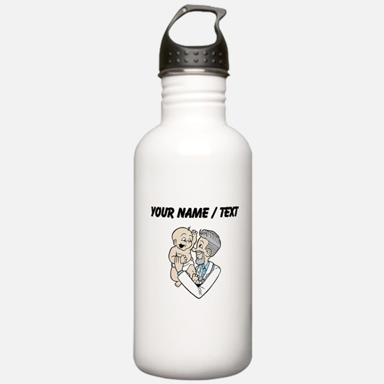 Custom Doctor And Baby Water Bottle