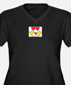 Hitched Chicks 2 Women's Plus Size V-Neck Dark T-S