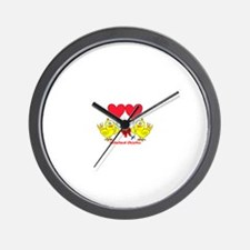 Hitched Chicks 2 Wall Clock