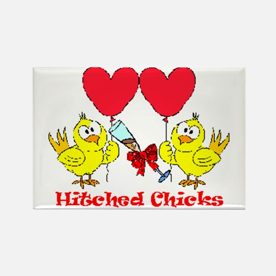 Hitched Chicks 2 Rectangle Magnet