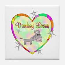 Donkey Lover Tile Coaster