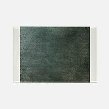 Green script linen texture Magnets