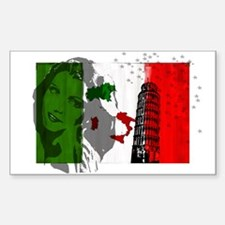 Italy Classics Rectangle Decal