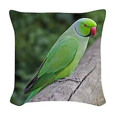 Parakeet Woven Throw Pillow