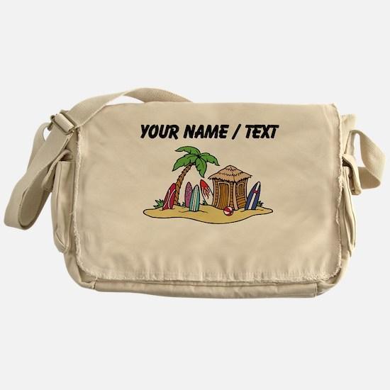 Custom Surf Shack Messenger Bag