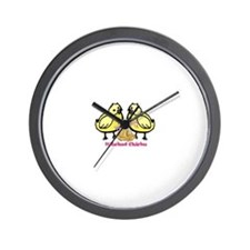 Hitched Chicks Wall Clock