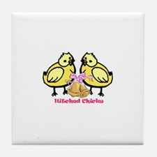 Hitched Chicks Tile Coaster