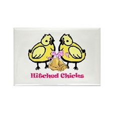 Hitched Chicks Rectangle Magnet