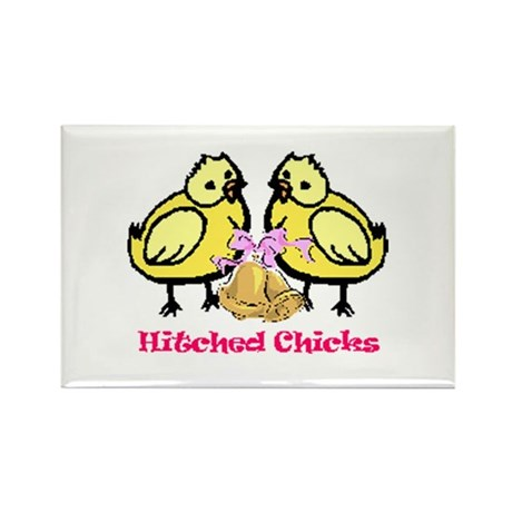 Hitched Chicks Rectangle Magnet (10 pack)