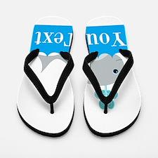 Personalizable Gray Whale Flip Flops