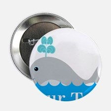 "Personalizable Gray Whale 2.25"" Button"