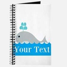 Personalizable Gray Whale Journal