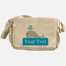 Personalizable Gray Whale Messenger Bag