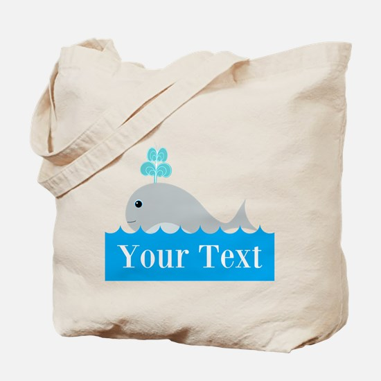 Personalizable Gray Whale Tote Bag