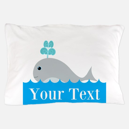 Personalizable Gray Whale Pillow Case